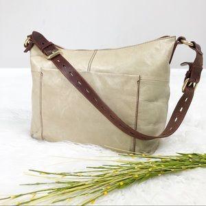 Hobo Original Cream Leather Women's Shoulder Bag